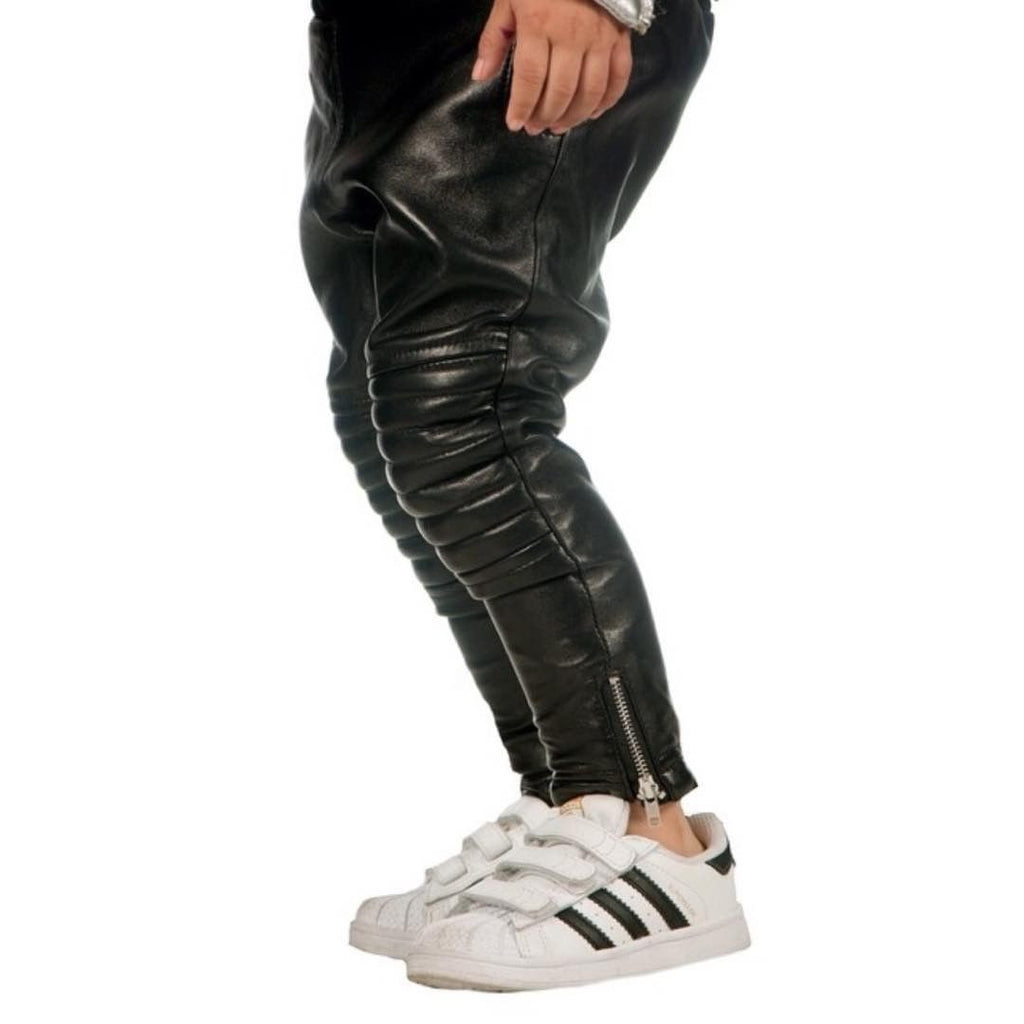 Onyx Leather Harem Pants