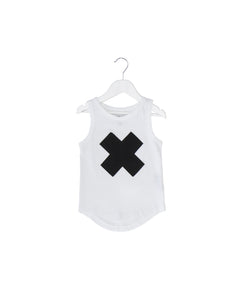 Cross Shadow (Applique ) Drop Back Singlet
