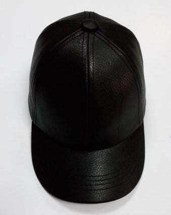 Onyx Leather Hat