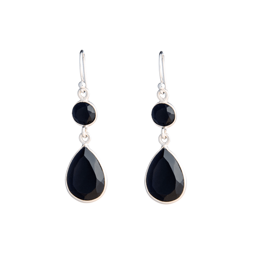 LIVA BLACK SILVER EARRING