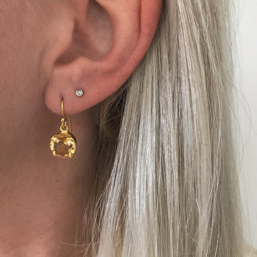 NAJA AMBER GOLDEN EARRING