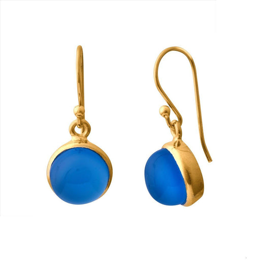 IDA BLUE GOLDEN EARRING