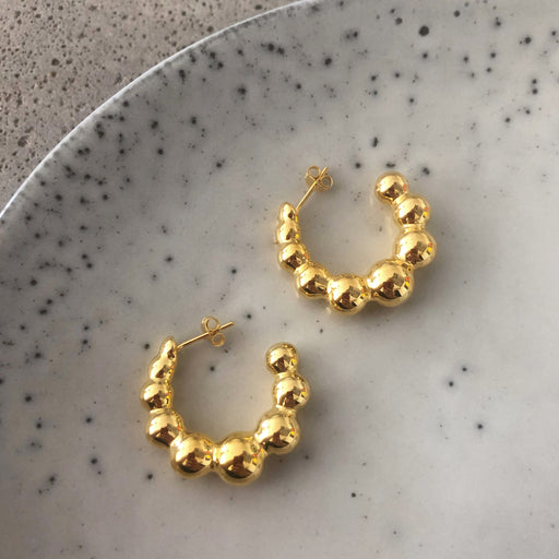 AGNETE GOLDEN CREOL EARRING