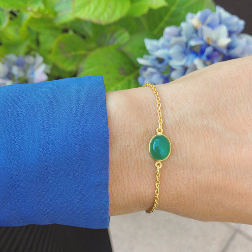 LUNA GREEN GOLDEN BRACELET