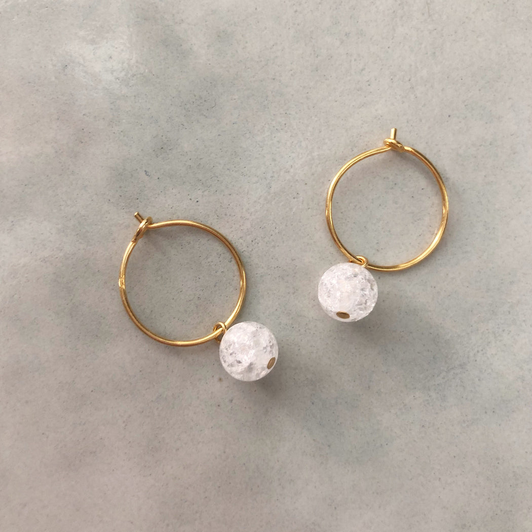ELLIE CRYSTAL GOLDEN CREOL EARRING
