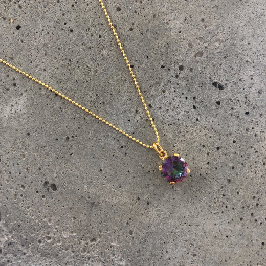 NAJA RAINBOW GOLDEN NECKLACE
