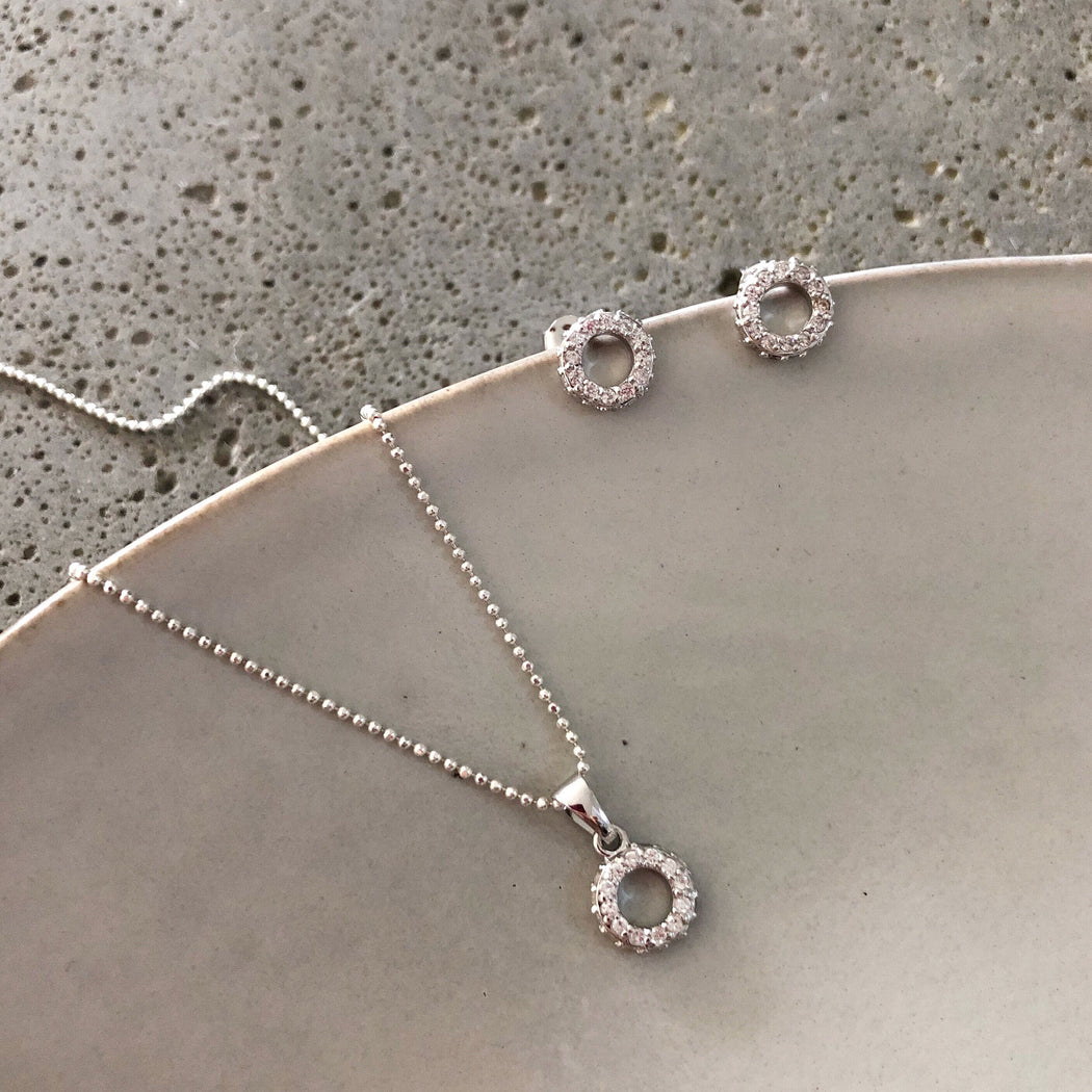 ALBERTE SILVER EARRING NECKLACE SET