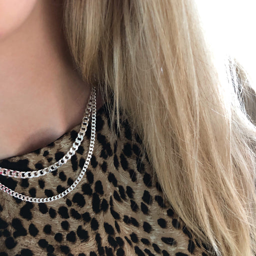 SIA LARGE PANZER SILVER CHAIN