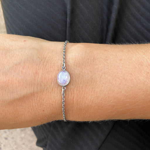 LUNA LIGHT GREY SILVER BRACELET