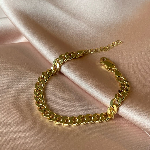 SIA LARGE PANZER GOLDEN BRACELET