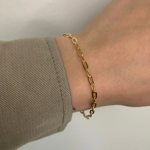 ALMA MEDIUM LINK GOLDEN BRACELET