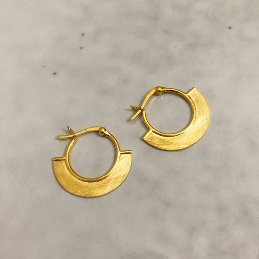 ELNA GOLDEN CREOL EARRING