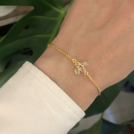 OLIVIA CRYSTAL GOLDEN BRACELET