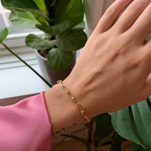 ALMA LARGE LINK GOLDEN BRACELET