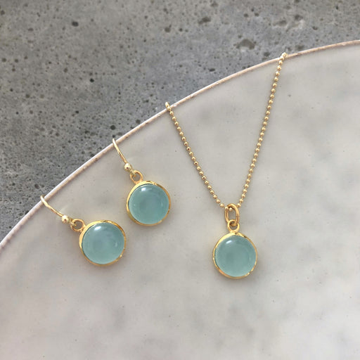 IDA AZURE GOLDEN EARRING NECKLACE SET