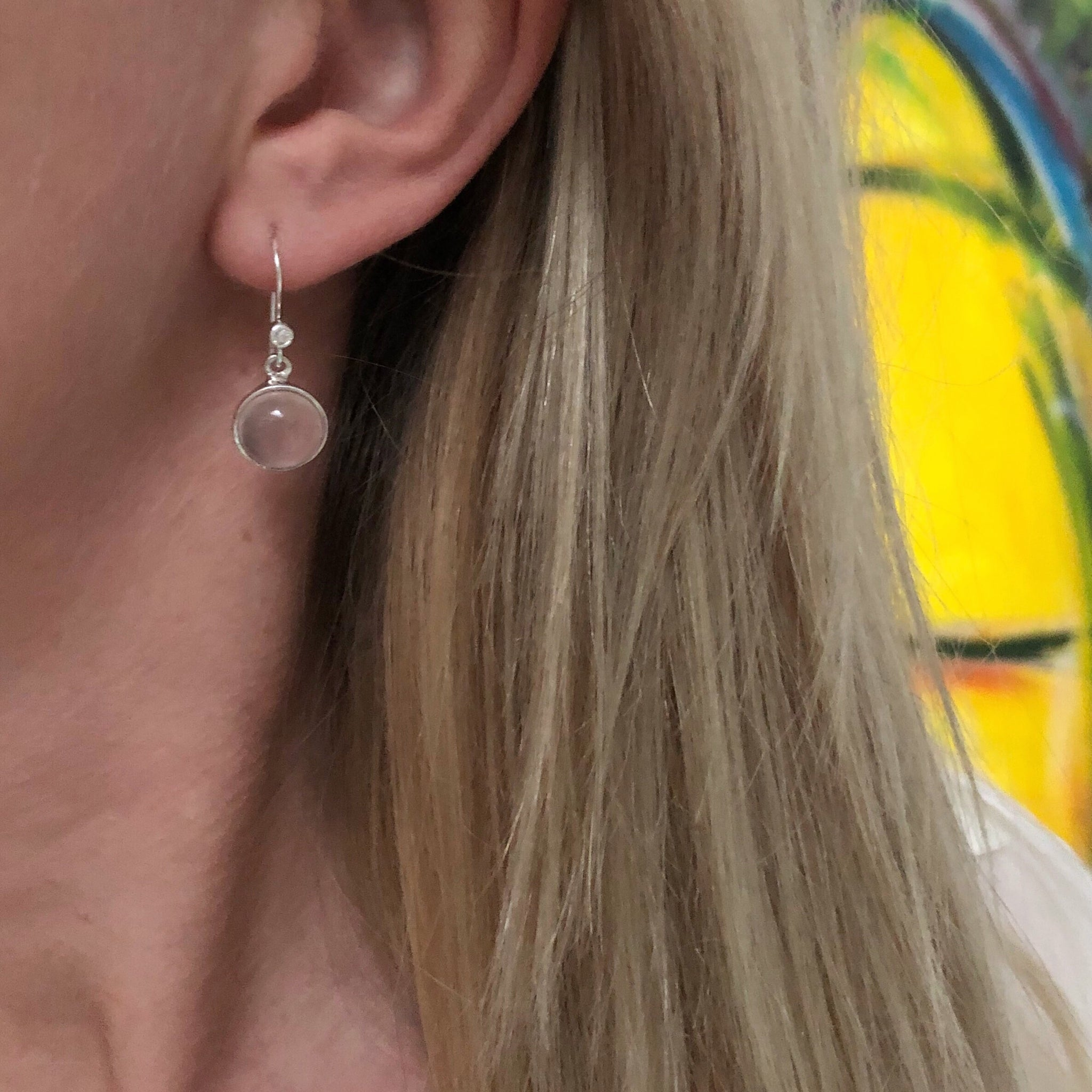 INGRID ROSE SILVER EARRING