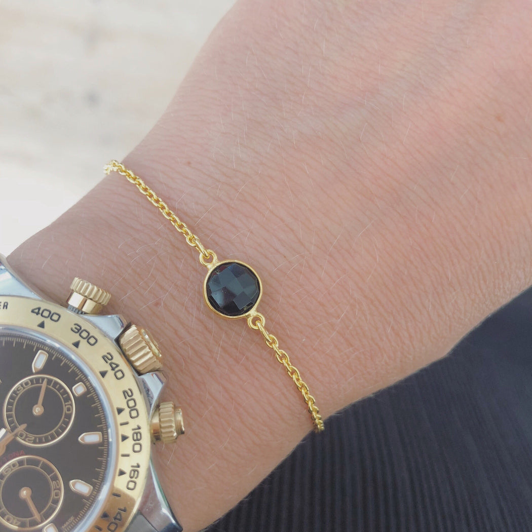 EVA BLACK GOLDEN BRACELET