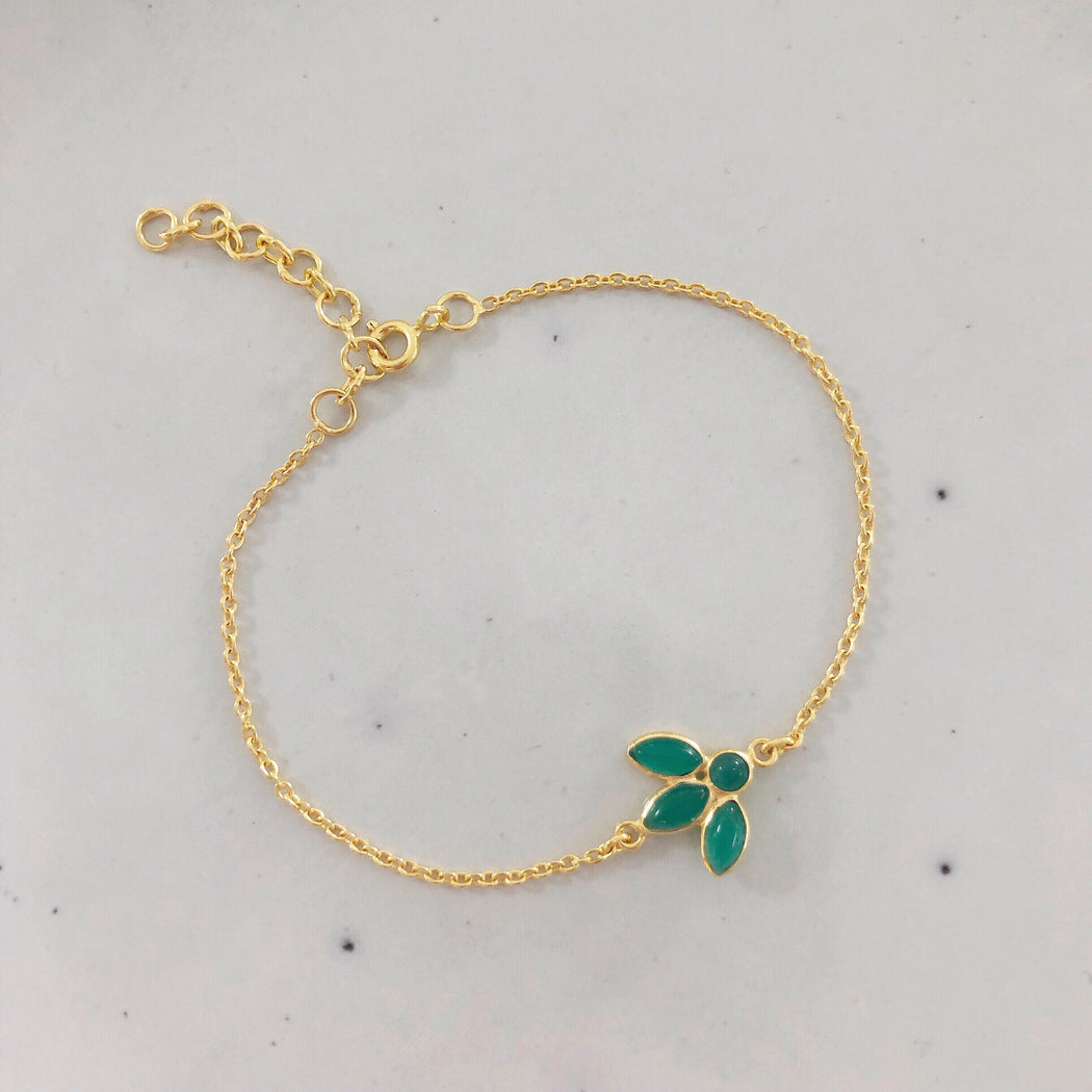 OLIVIA GREEN GOLDEN BRACELET