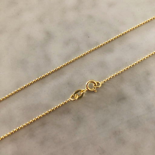 SIMPLE BALL GOLDEN CHAIN