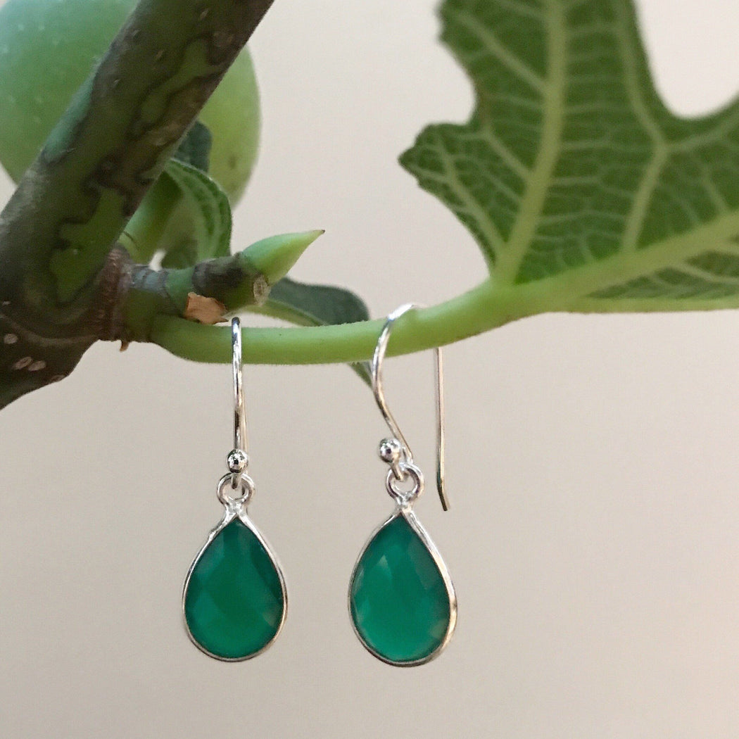 ELLA GREEN SILVER EARRING