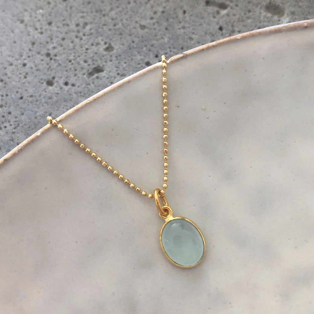 LUNA AZURE GOLDEN NECKLACE