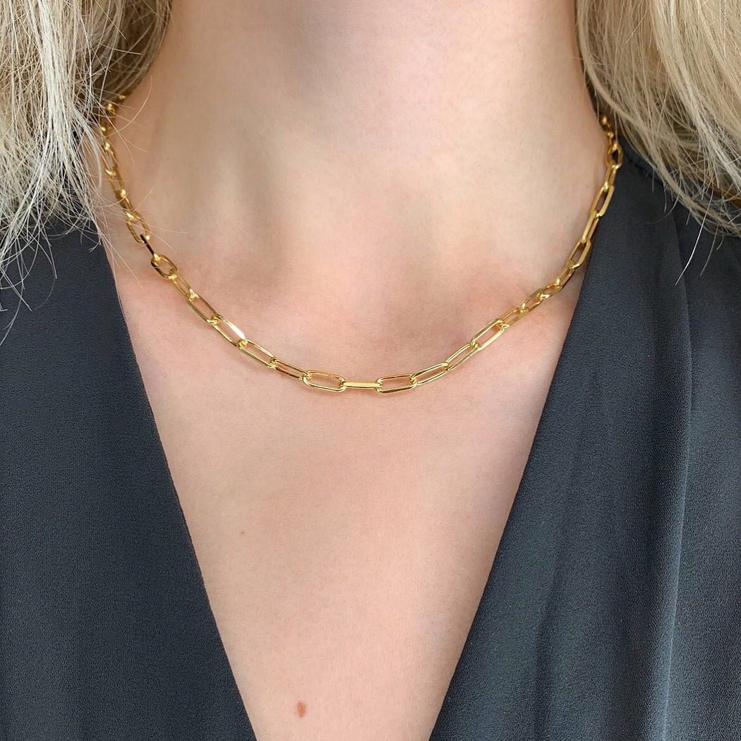 ALMA LARGE LINK GOLDEN CHAIN