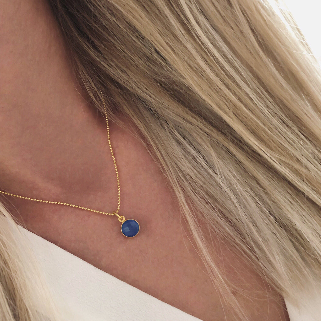 EVA BLUE GOLDEN NECKLACE