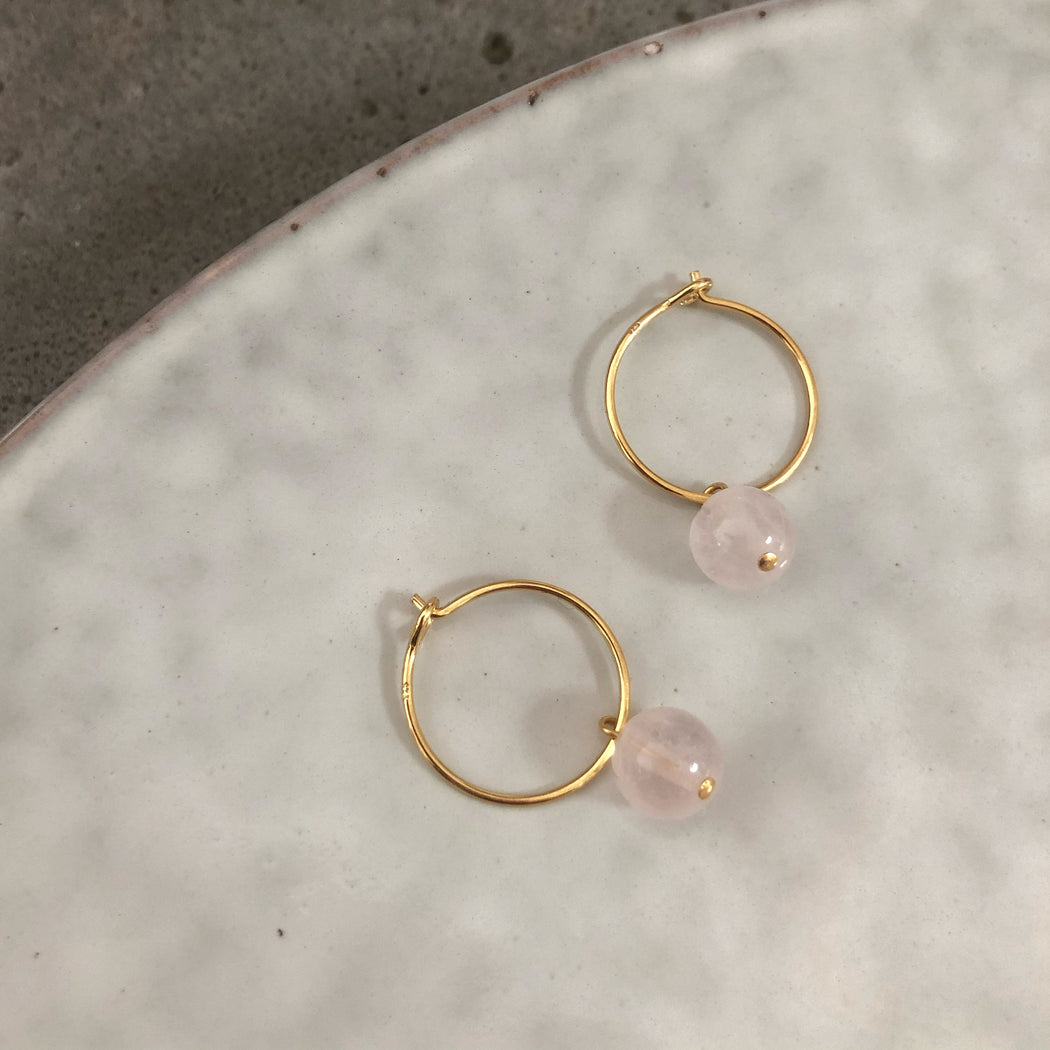 ELLIE ROSE GOLDEN CREOL EARRING