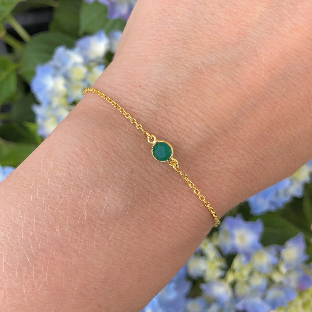 LULU GREEN GOLDEN BRACELET