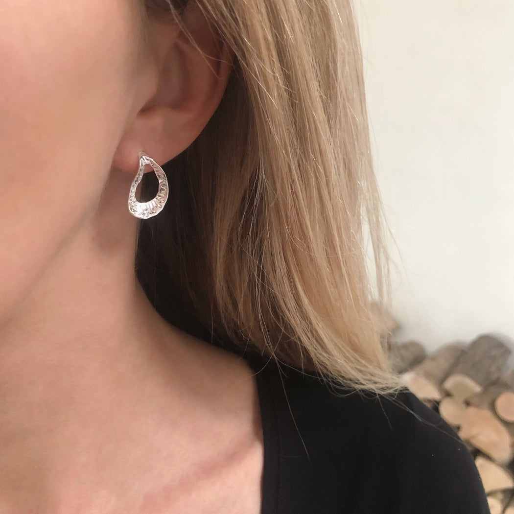 CHRISTA SILVER EARRING