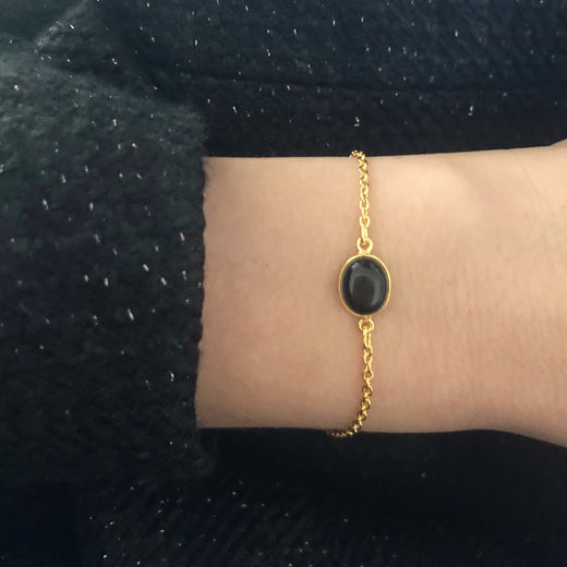 LUNA BLACK GOLDEN BRACELET