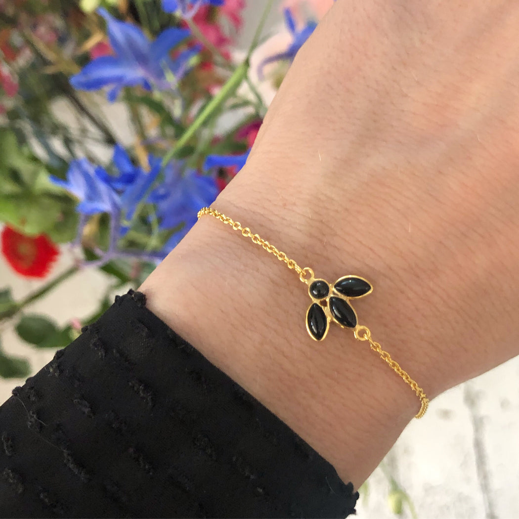 OLIVIA BLACK GOLDEN BRACELET