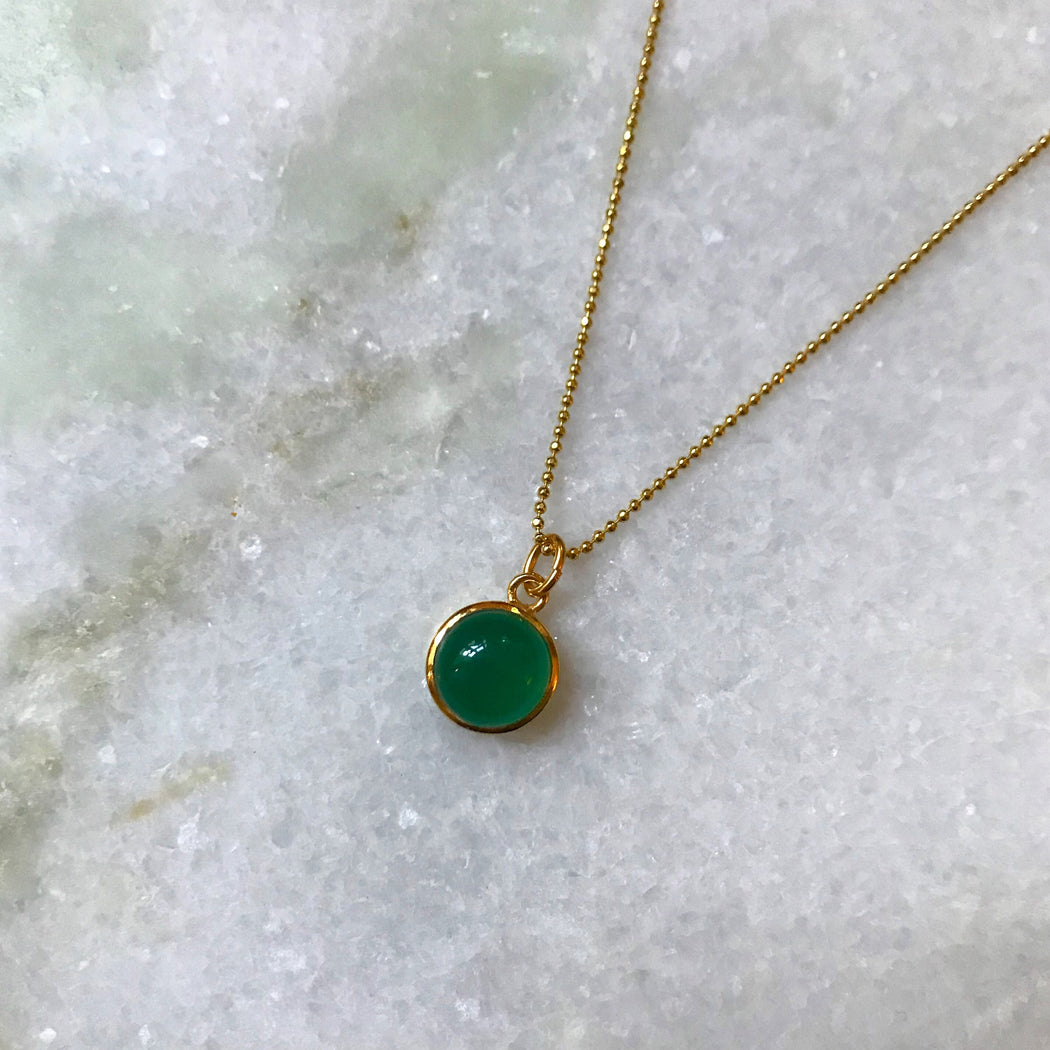 IDA GREEN GOLDEN NECKLACE