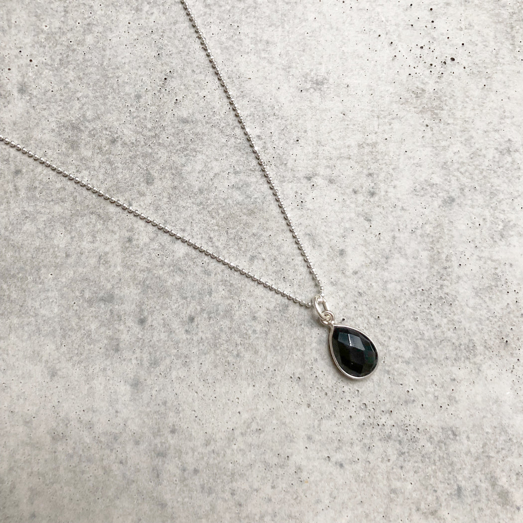 ELLA BLACK SILVER NECKLACE