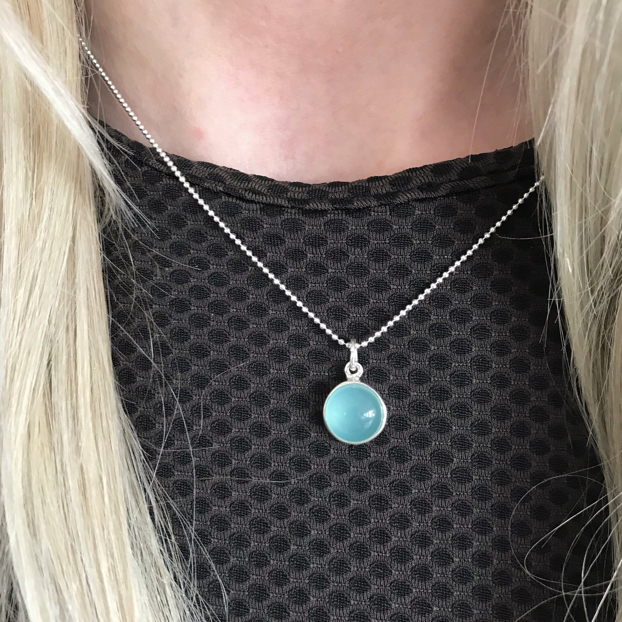 IDA AZURE SILVER NECKLACE