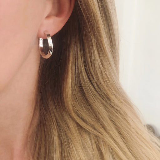 LIV SILVER CREOL EARRING