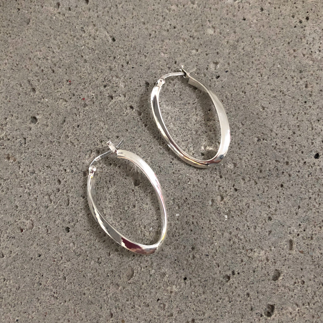 BIANCA SILVER CREOL EARRING