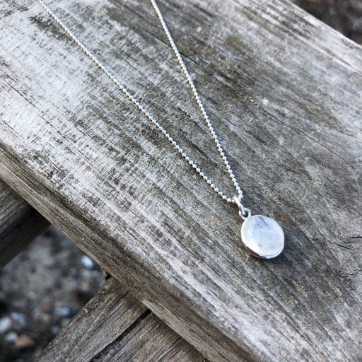 IDA LIGHT GREY SILVER NECKLACE