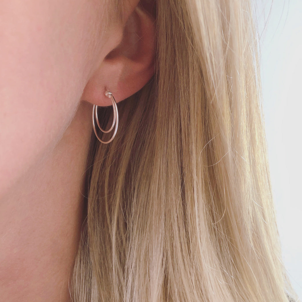 DIANA SILVER CREOL EARRING