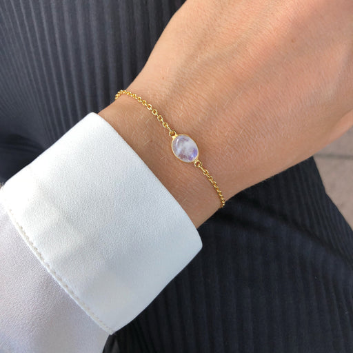 LUNA LIGHT GREY GOLDEN BRACELET