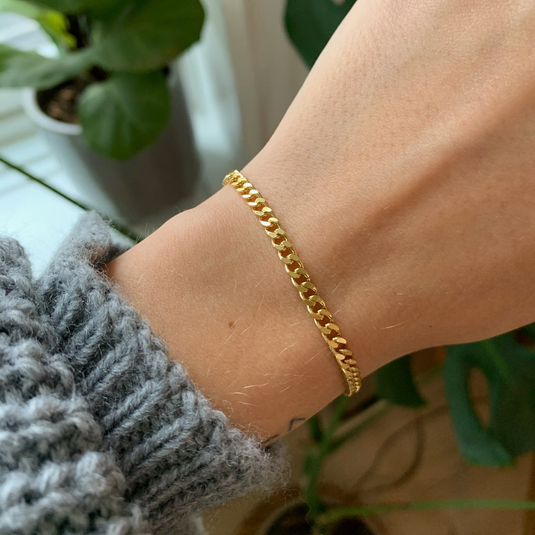 SIA MEDIUM PANZER GOLDEN BRACELET