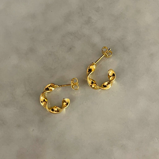 CARLI SMALL GOLDEN CREOL EARRING