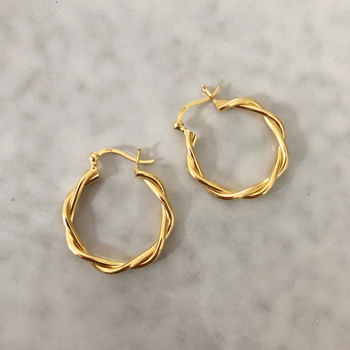 MIKALA GOLDEN CREOL EARRING
