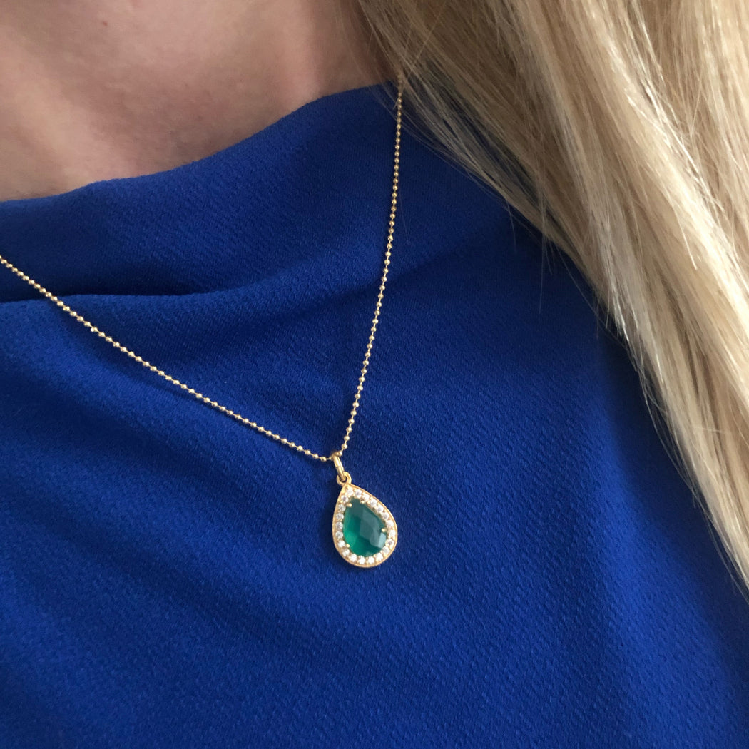 ALESSIA GREEN GOLDEN NECKLACE