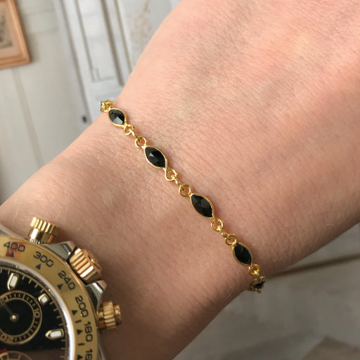 ISABEL BLACK GOLDEN BRACELET