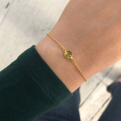 EVA MINI LIME GOLDEN BRACELET