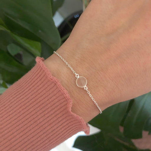 EVA MINI ROSE SILVER BRACELET