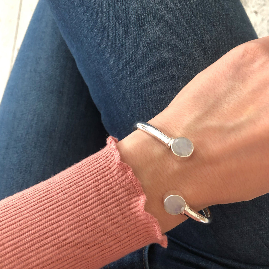 NAJA LIGHT GREY SILVER BRACELET