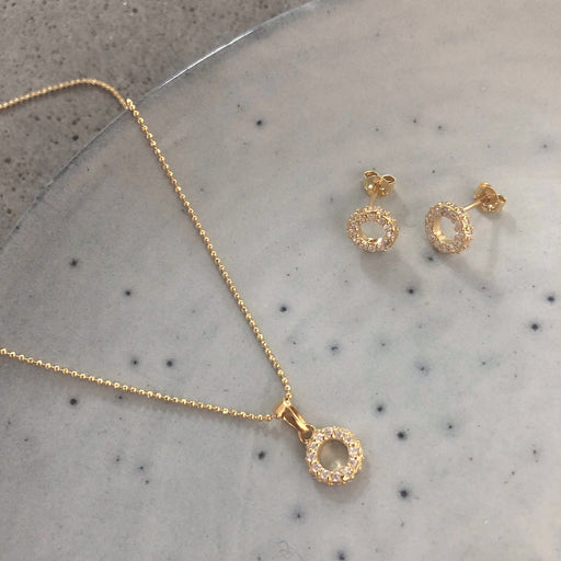 ALBERTE GOLDEN EARRING NECKLACE SET