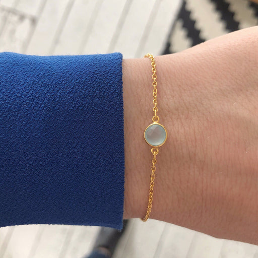 EVA MINI AZURE GOLDEN BRACELET